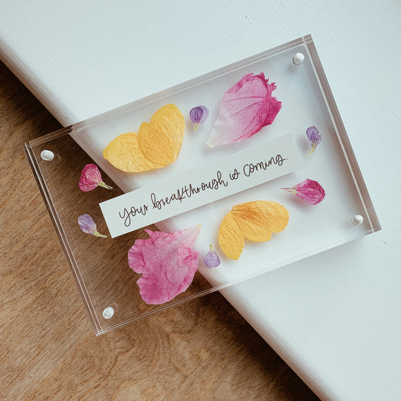Custom 4x6 Pressed Flower Frame