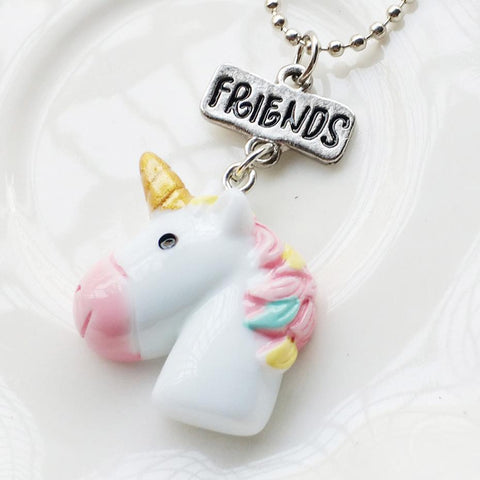 Best Friends Unicorn Necklace, Unicorn gift for best friend, mum, sister