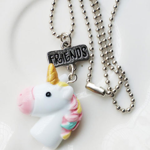 """Best Friends"" Unicorn Necklace Set"