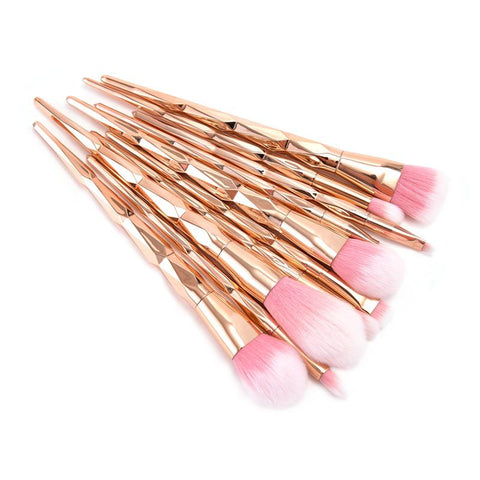 Unicorn Queen Rose Gold 10 Piece Brush Set