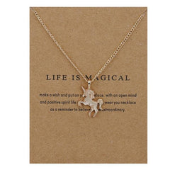 """Life Is Magical"" Unicorn necklace"