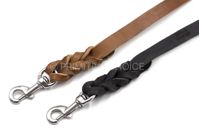 BRAIDED LATIGO LEATHER LEASH