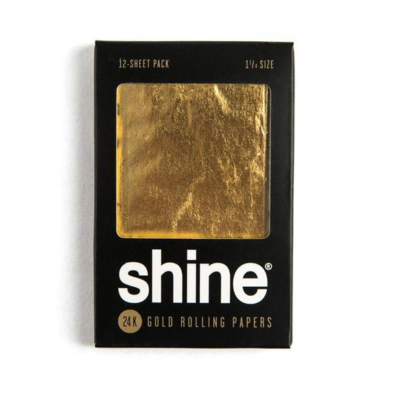 Shine® Shine® 12-Sheet Pack 24K Rolling Papers Vaporizer Parts - YourVaporizers