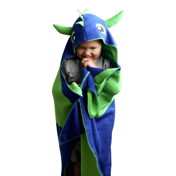 Kids Dinosaur Blanket for Boys - Toddler Boy Dragon Wearable Blankets, Hooded Blanket for Toddlers