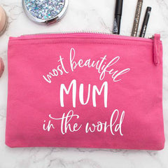 Most beautiful mum in the world makeup bag