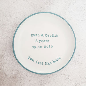 Large personalised anniversary plate