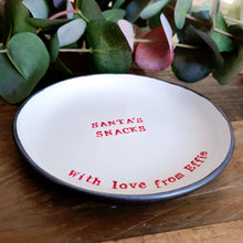 Large personalised Santa's snacks dish