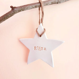 Personalised name Star