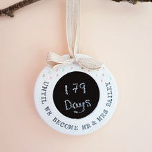 Personalised wedding countdown sign