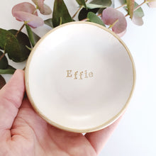 Personalised name ring dish