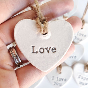 Small hanging heart decoration - Love