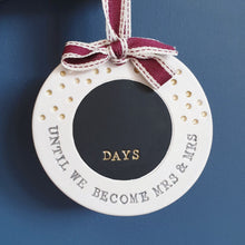 Personalised wedding countdown sign - Mrs and Mrs