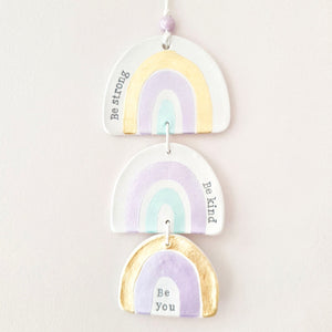Light purple rainbow wall hanging