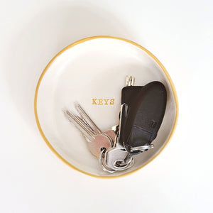 Large personalised key dish