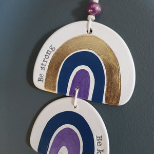 Navy blue rainbow wall hanging