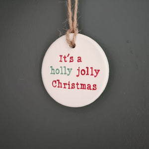 Holly Jolly Christmas bauble