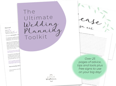 The Ultimate Printable Wedding Planning Toolkit plus free signs
