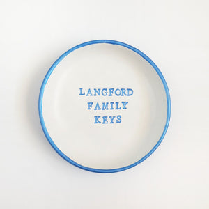 Personalised key dish