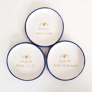 Bridesmaid ring dishes
