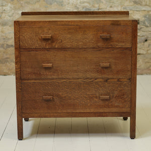 Heal and Co Arts & Crafts Cotswold School Oak Chest of Drawers