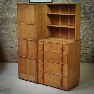 Peter Waals Arts & Crafts Cotswold School English Oak Wardrobe c.1935