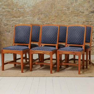 Set of 6 Peter Hall of Staveley Arts & Crafts Lakes School Willow 'Oxford' Chairs