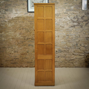 'Cat & Mouseman' Arts & Crafts Yorkshire School Oak Linen Cupboard / Pantry