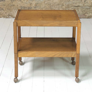 Acornman (Ex-Mouseman) Arts & Crafts Yorkshire School English Oak Tea Trolley