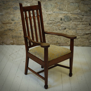 Arthur W. Simpson Arts & Crafts Lakes School English Oak Armchair