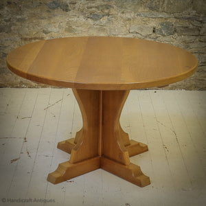 Horace 'Knightman' Knight Arts & Crafts Yorkshire School Oak Dining Table