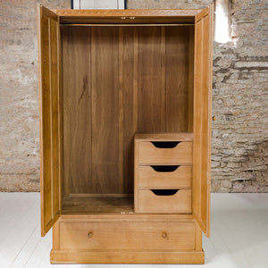 Eagleman (Ex-Mouseman) Arts & Crafts Yorkshire School Oak Double Wardrobe [b]