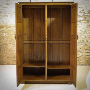 Nigrl Griffiths Arts & Crafts Gothic School English Oak Wardrobe c. 1980