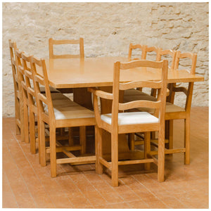 Acornman (Ex-Mouseman) Arts & Crafts Yorkshire School English Oak Table