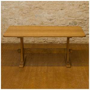 Alan 'Acornman' Grainger (ex-Mouseman) Arts & Crafts Yorkshire Oak Dining Table