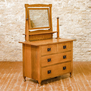 Ambrose Heal Arts & Crafts English Oak St Ives Dressing Chest c. 1900