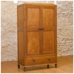 Gordon Russell Early Arts & Crafts 'Stow' Oak Double Wardrobe, No. 447 1927