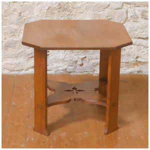 Arthur W Simpson (The Handicrafts, Kendal) Arts & Crafts Oak Side Table c. 1920