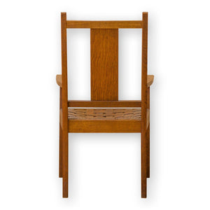Arthur W Simpson (The Handicrafts, Kendal) Arts & Crafts Oak and Leather Armchair