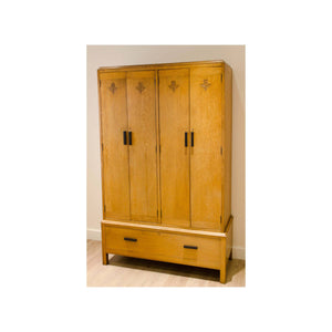 Arthur W Simpson (The Handicrafts, Kendal) Arthur W. Simpson Antique Arts and Crafts Oak Four Door Wardrobe C. 1930