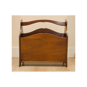 Arthur W Simpson (The Handicrafts, Kendal) Arthur W. Simpson Arts and Crafts Solid Mahogany Magazine Rack C 1920