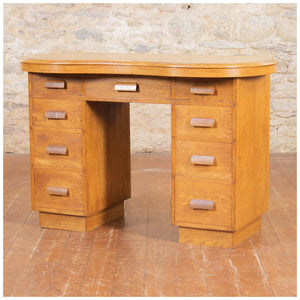 Arthur W Simpson Arts & Crafts Lakes School Oak Dressing Chest or Desk c. 1930