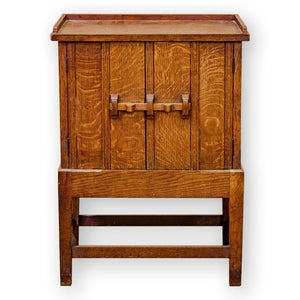 Arts & Crafts Cotswold School English Oak cabinet
