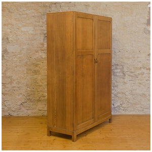 Arts & Crafts Cotswold School English Oak Wardrobe c. 1930