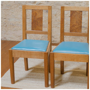 Arts & Crafts Cotswold School Oak and Pollard Oak Dining Chairs c. 1960