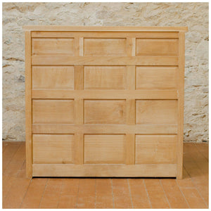 Arts & Crafts Yorkshire School English Oak Yorkshire Rose Bookcase c. 1980