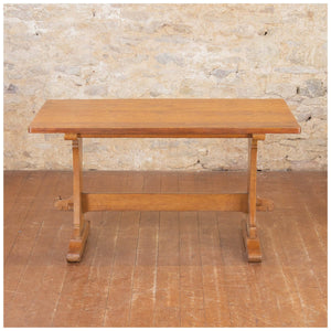Bob Wrenman Hunter (Ex-Mouseman) Arts & Crafts Yorkshire English Oak Dining Table