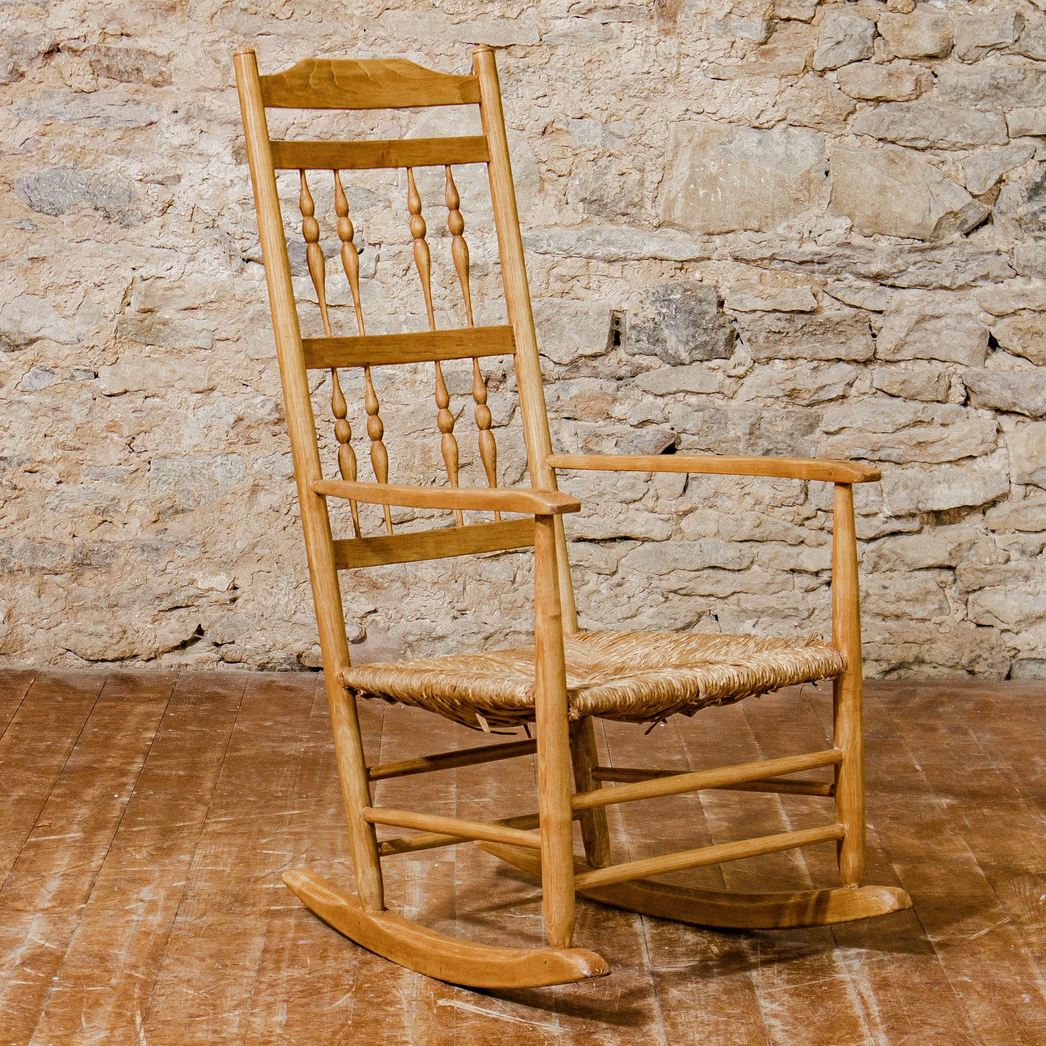 Arts Crafts Cotswold School Ash Gimson Design Rocking Chair With Rus