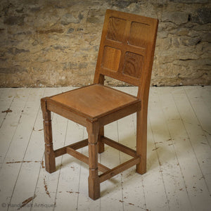 Set of 4 Sid Pollard [ex-Mouseman] Arts & Crafts Yorkshire School Oak Chairs