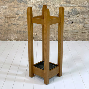 Stickley Furniture Arts & Crafts Mission School Oak Umbrella Stand 2005