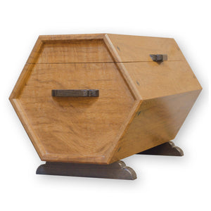 Christopher Vickers Arts & Crafts Oak Octagonal Drum WorkBox 'The Lethaby Chest'